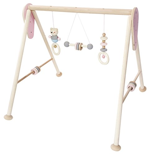 Hess Holzspielzeug 13382 - Spielgerät aus Holz, Serie Bär, für Babys, handgefertigter Spielbogen mit...
