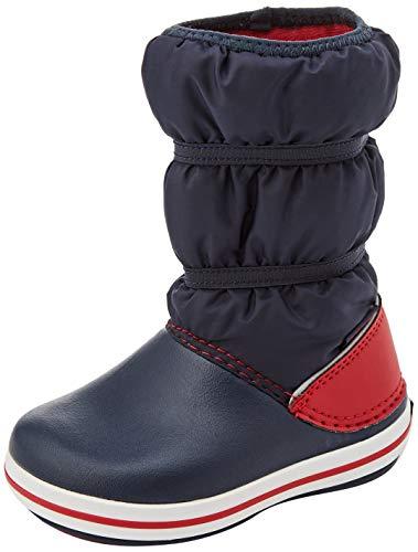 crocs Unisex-Kinder Crocband Winter Boot Kids Schneestiefel, Marine/ Rot, 28-29 EU