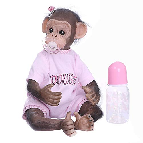 Beesuya Annabelle Doll Monkey Baby Dolls That Look Real Hand-Made Innovative Simulation Toy Dolls Puppies for