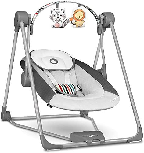Lionelo Otto Baby Wippe Baby Schaukel Spielbogen mit interaktiven Spielzeugen 5 Schaukel Geschwindigkeiten...