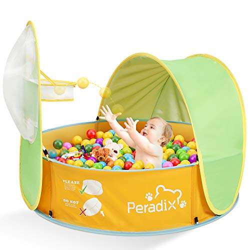 Peradix Baby Zelt Pop Up Bällepool ,Tragbare Kinder Spielzelt Bällebad Sonnenschutz Zelt Indoor Outdoor Baby...