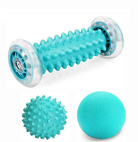 Emwel Massageball - Fußmassageroller und Massagebälle für Plantarfasziitis Igelball & Bälle Set...