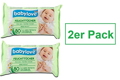 babylove Waschlappen feucht 4 x 80 St 4er Pack
