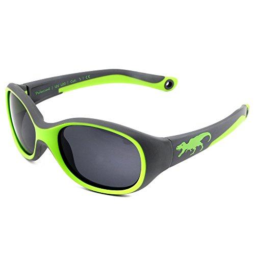 ActiveSol KINDER-Sonnenbrille | JUNGEN | 100% UV 400 Schutz | polarisiert | unzerstörbar aus flexiblem Gummi...