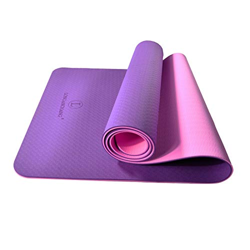 L LONGANCHANG Yogamatte, TPE Yoga Matte Gymnastikmatte Sportmatte Fitnessmatte rutschfest, Turnmatte für...