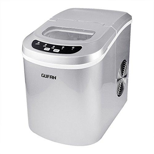 GUFAN Eiswürfelmaschine - Neue Tragbare Eismaschine für Haushalt / Büro - 15kg Eis in 24 Stunden - 2...