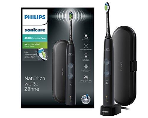 Philips Sonicare ProtectiveClean 4500 elektrische Zahnbürste HX6830/53 – Schallzahnbürste mit 2...