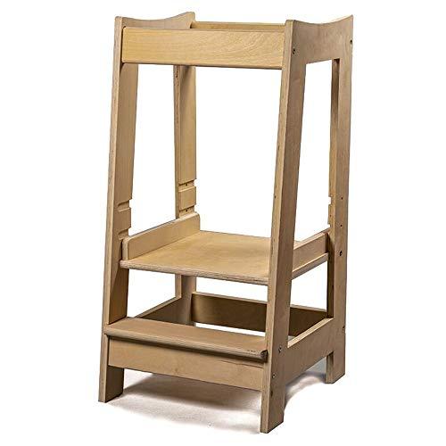 Stepup Baby Montessori Lernturm Küchenhelfer Ständer, verstellbare Kleinkindtreppe mit Sicherheitsschiene,...