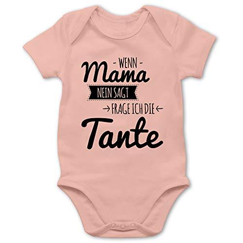 Shirtracer Sprüche Baby - Wenn Mama Nein SAGT frag ich die Tante - 6/12 Monate - Babyrosa - Bodys Baby Jungen...