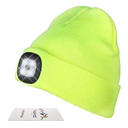 TAGVO USB Nachladbare LED Mütze-Kappe, Beleuchtung und Blinkende Warnungs-Arten 8 LED, einfache Installation...