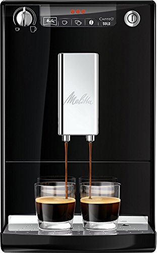 Melitta Caffeo Solo E950-101 Schlanker Kaffeevollautomat mit Vorbrühfunktion   15 Bar   LED-Display  ...