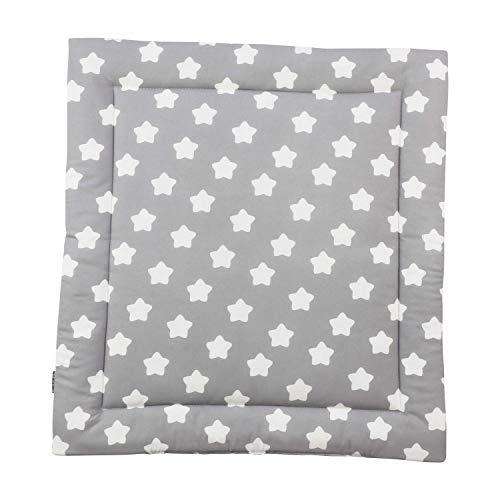 Puckdaddy Wickelauflage Finja - 65x75 cm, Wickelunterlage aus 100% Baumwolle mit Sterne und Pünktchen Muster...