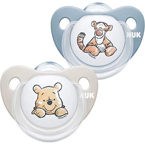 NUK Trendline Schnuller | 0-6 Monate | BPA-freier Schnuller aus Silikon | Disney Winnie Puuh | Blau (Junge) |...