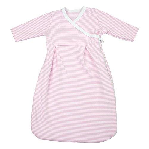 TupTam Baby Unisex Langarm Innenschlafsack, Farbe: Streifenmuster Rosa, Größe: 50-56