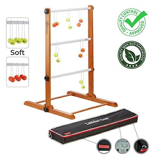 Ubergames Original 2021 Leitergolf Spiel - Top Qualität Leiterspiel Wurfspiel - mit offizielle Soft Bolas...