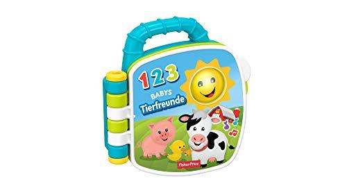 Fisher-Price GFP29 - Tierfreunde Liederbuch Baby Spielzeug und Lernspielzeug Musik und Geräuschen ab 6...