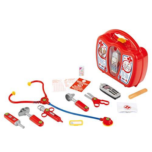 Theo Klein 4350 Arztkoffer mit Handy I Robuster Koffer mit Stethoskop, Spritze und vielem mehr I Mit...