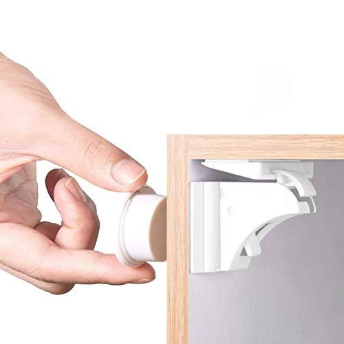 Magnetische Kindersicherung Schrankschloss | 18 Schlösser mit 3 Schlüssel | WoZon Baby Sicherheit...