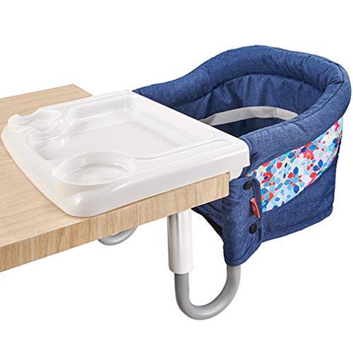 Mosbaby Baby Tischsitz mit Transporttasche + Tablett, Faltbarer Babysitz Hochstuhl für Esstisch, Rutschfester...