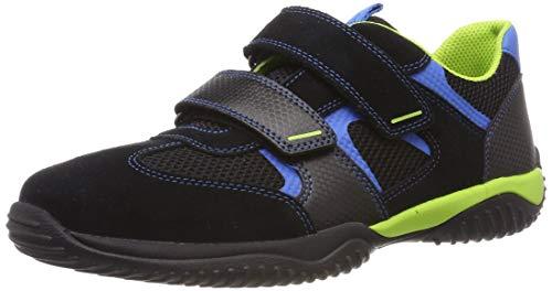 Superfit Jungen Storm Sneaker, Schwarz (Schwarz/Blau 00), 30 EU