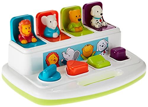 Battat BT2531Z Baby Spielzeug – Pop Up Lernspielzeug Baby mit Tieren – Aktivitätsspielzeug mit Tasten zum...