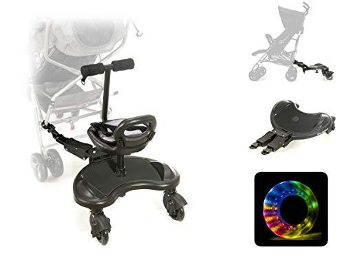 Moby-System, Board mit Sitz für Rollstühle mit Sitz Universelle Plattform für ältere Kinder, Leuchtende...