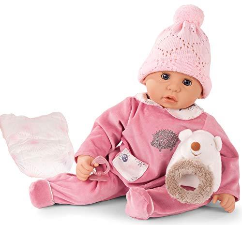 Götz 1961049 Cookie Igel Puppe - 48 cm große Babypuppe mit blauen Schlafaugen, ohne Haare und einem...