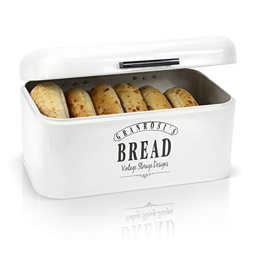 Granrosi Retro Brotkasten - Kompakte Brotbox hält Brot und Brötchen länger frisch und ist EIN Hingucker in...