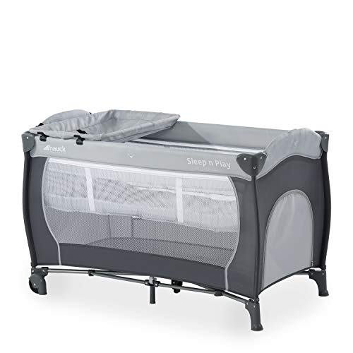 Hauck Kombi Reisebett Set Sleep N Play Center / für Babys und Kinder ab Geburt bis 15 kg / 120 x 60 cm / 2...