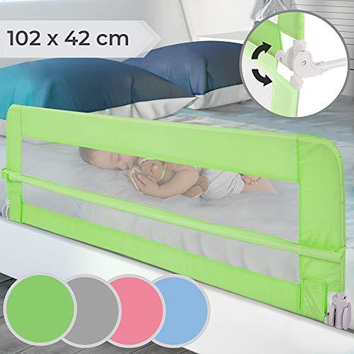 Bettgitter klappbar - Farbwahl, Größe: 102/42cm, einfache Montage, passend für Kinderbetten, Elternbetten -...