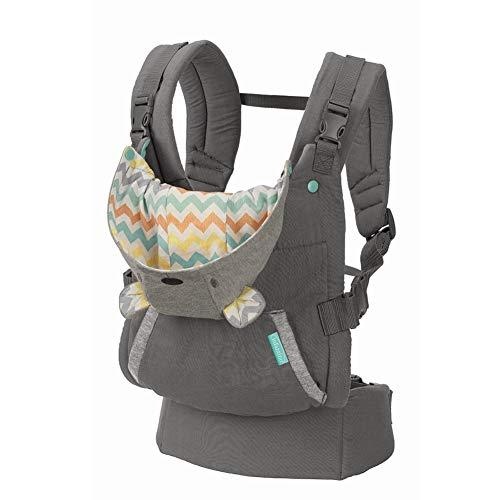 Infantino Cuddle Up Babytrage – Ergonomische Babytrage mit Teddy-Kapuze und verstellbaren Schultergurten –...