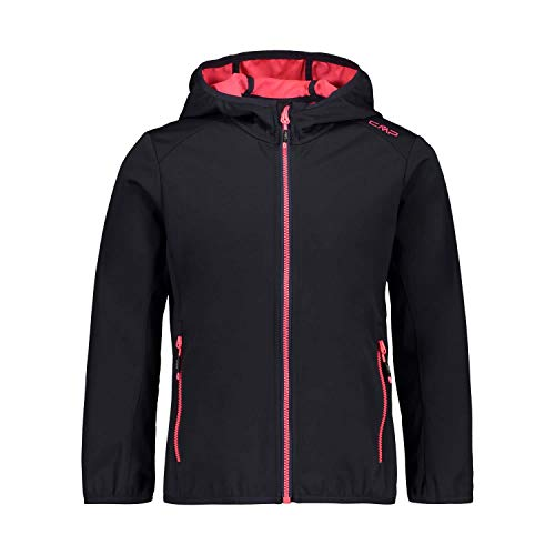 CMP Mädchen Softshell Jacket with Fixed Hood Jacke, Anthracite-Gloss, 176