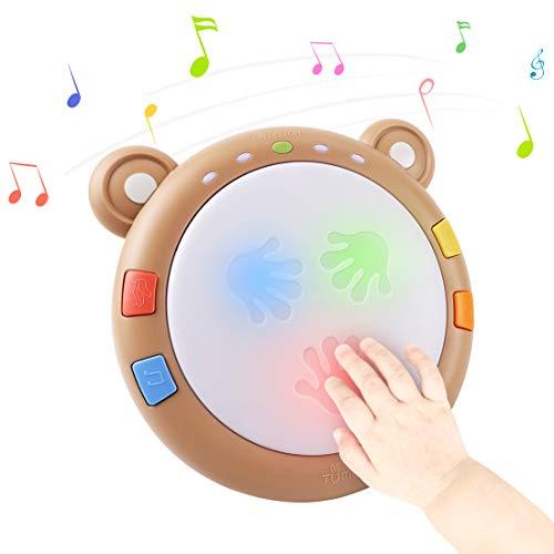 TUMAMA Baby Musical Elektronisches Spielzeug,Baby Musik Trommel Musikinstrumente sensorisches Spielzeug...