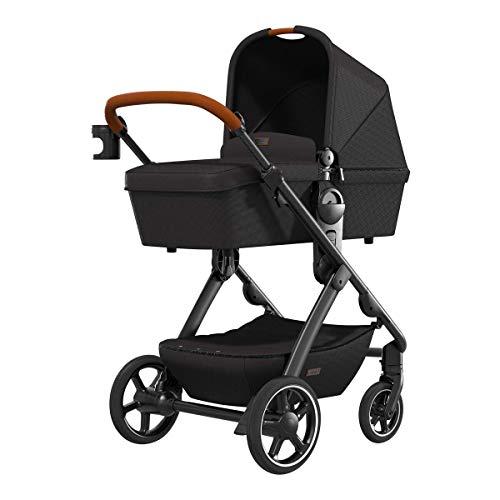 MOON N°ONE – innovativer und moderner Komfort Kombi Kinderwagen in black – flexibel, leicht, voller...