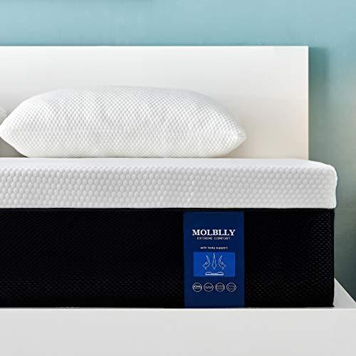 Molblly 7 Zonen Matratze 90 x 200 cm, härtegrad H3 hochwertige Memoryschaum Matratze, ergonomische Matratze...