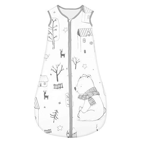 Yoofoss Schlafsack 100% Baumwolle Baby Schlafsack 70x45cm Wald-Muster Babyschlafsack Neugeborene im 0-6...
