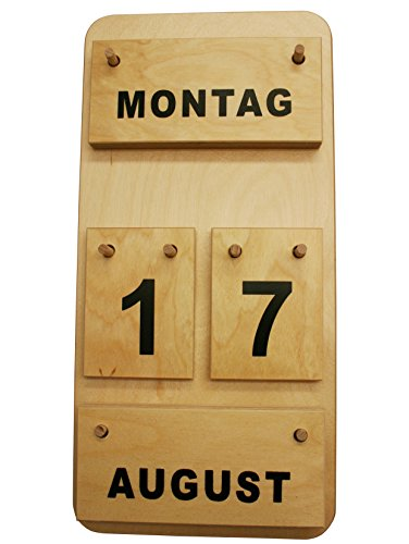 Montessori Dauerkalender aus Holz, Profimaterial Made in Germany