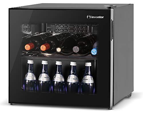 Inventor Vino Getränke & Weinkühlschrank 43L, Temperaturbereich 2-21 °C, UV-undurchlässige Glasscheibe,...