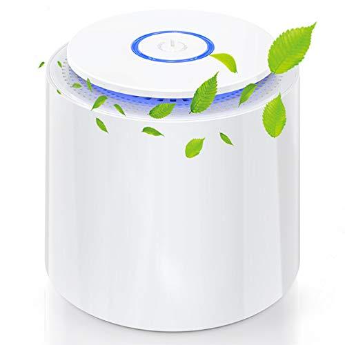 Mini Luftreiniger 3 in 1 Desktop-Luftfilter Air Purifier mit 2 Geschwindigkeiten led Nachtlicht ideal für...