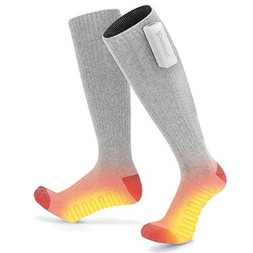 Beheizte Socken Elektrische Heizsocken mit 3 Dateien Einstellbarer Temperatur Beheizbare Socken Batterie Warme...