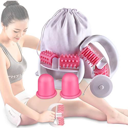 Anti Cellulite Roller Massageroller & Schröpfen Cup Set Anti Cellulite Massage gegen Cellulite und...