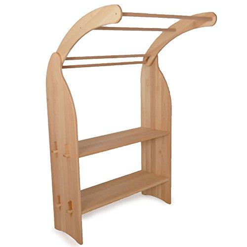 Holzspielzeug-Peitz Kinder-Spielständer 1011.1G - Zapfenverbindung - eine Seite - Massiv-Erlen-Holz