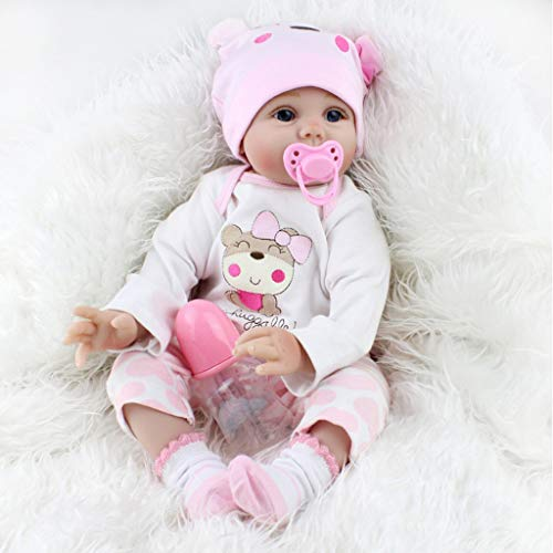 Reborn Neugeborenes Baby Realike Puppe Handgefertigte Naturgetreue Silikon - Reborn Puppen Mädchen Reborn...
