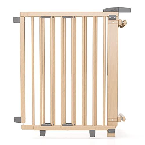 Geuther Treppenschutzgitter 2733+ - Treppenschutzgitter aus Holz in Natur Passung: 67 cm - 107 cm