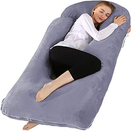 Chilling Home Schwangerschaftskissen, 55 Zoll Ganzkörperkissen Mutterschaftskissen für Schwangeren, Komfort...