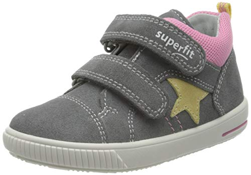Superfit Jungen Mädchen Moppy Lauflernschuhe Sneaker, HELLGRAU/ROSA, 23 EU