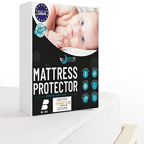 Dreamzie - Matratzenschoner 70 x 140 cm Wasserdicht für Babybetten - Atmungsaktive Matratzenauflagen 100%...