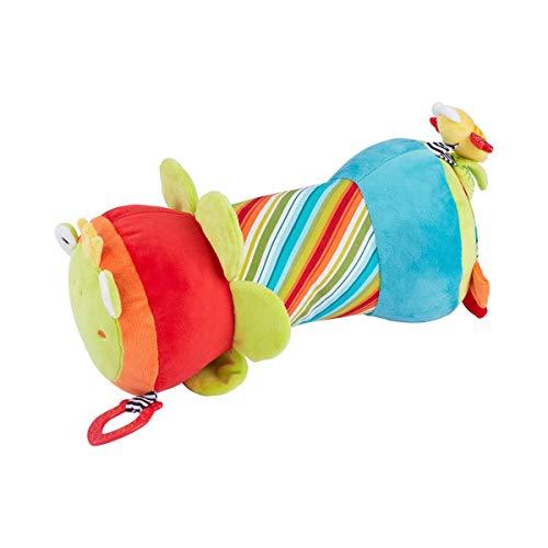 solini Krabbelrolle Froschkönig - Stoff-Rolle mit verschiedenen Spielmöglichkeiten - hilft Babys bei ersten...
