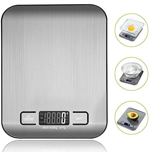 VIBOOS Küchenwaage Digital, Electronische Waage Küchenwaage für Lebensmittel, Haushaltswaage mit...