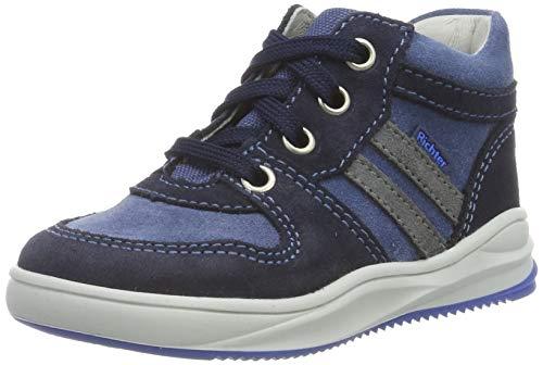 Richter Kinderschuhe Jungen Harry Hohe Sneaker, Blau (Atlantic/River/Ash 7204), 22 EU